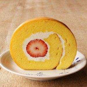 今年の苺のロールケーキ☆