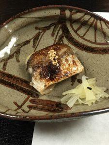 花菱さん焼き魚はカマスの幽庵焼き♪
