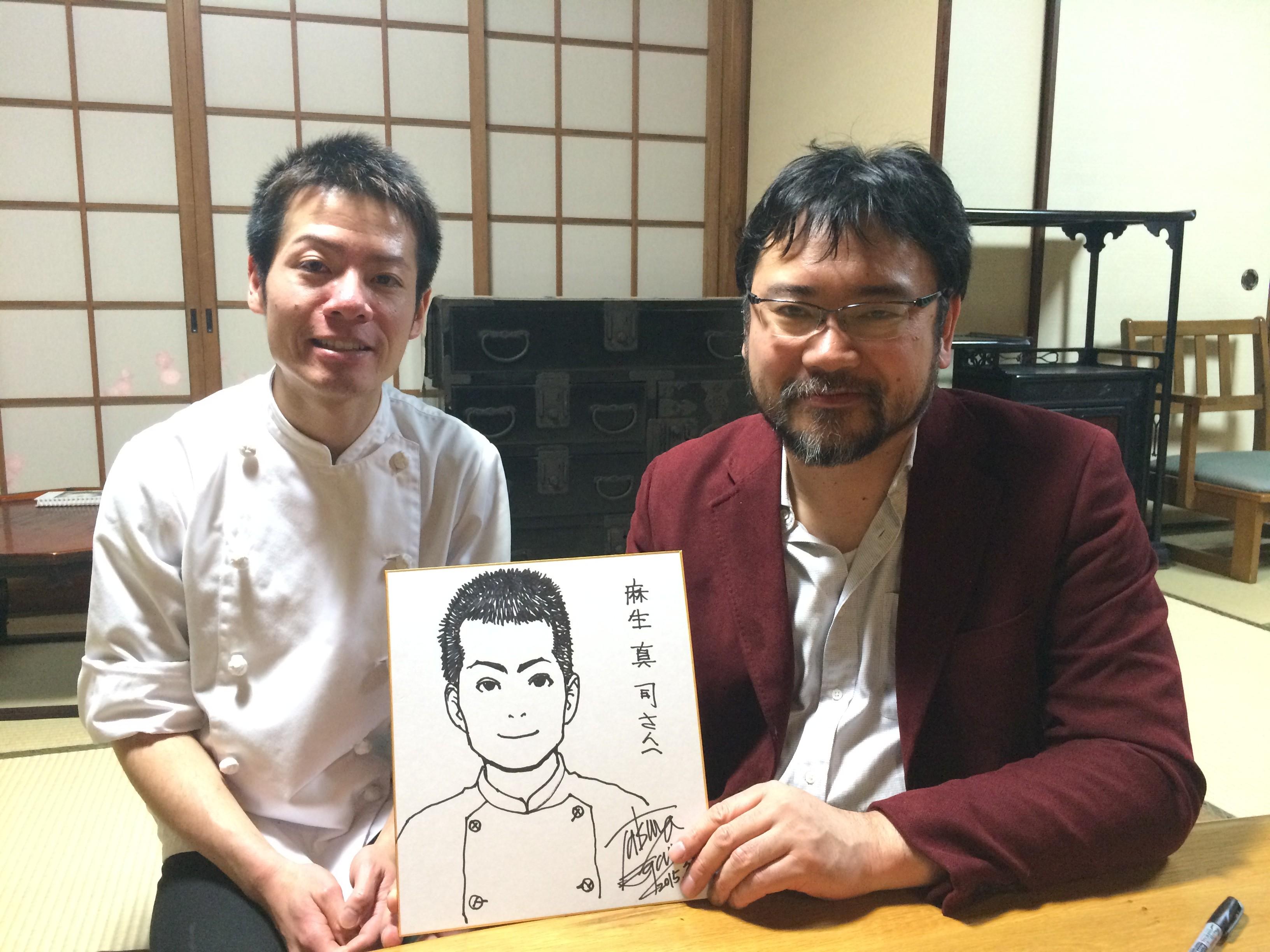 まじかるタルるートくん、東京大学物語で有名な江川達也さんと記念撮影