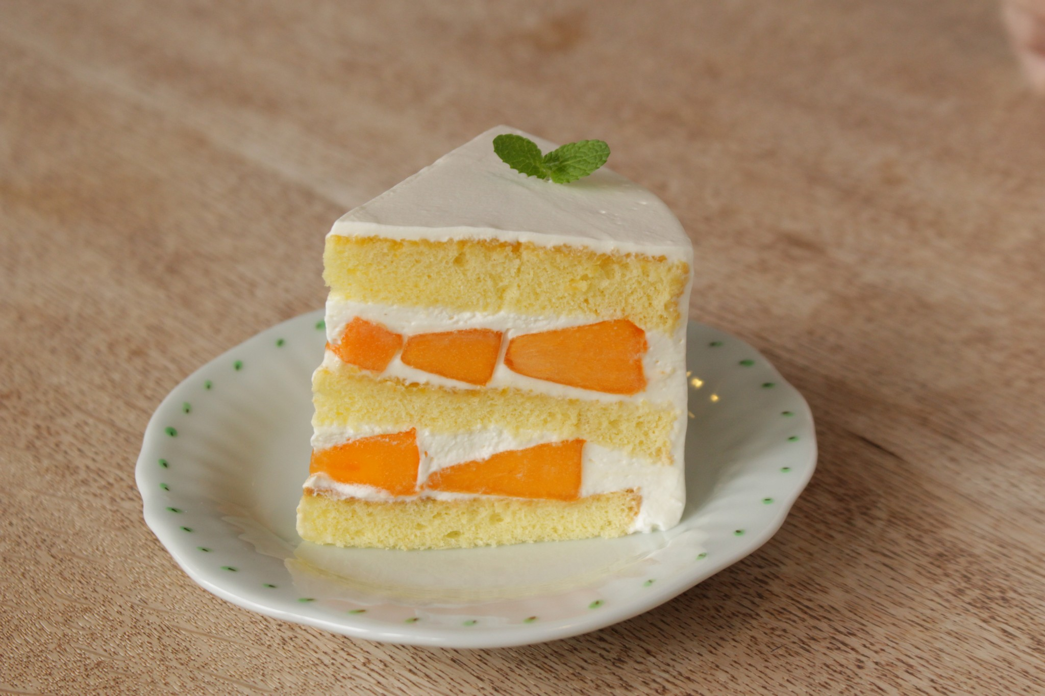 とても美味しい柿のショートケーキ☆