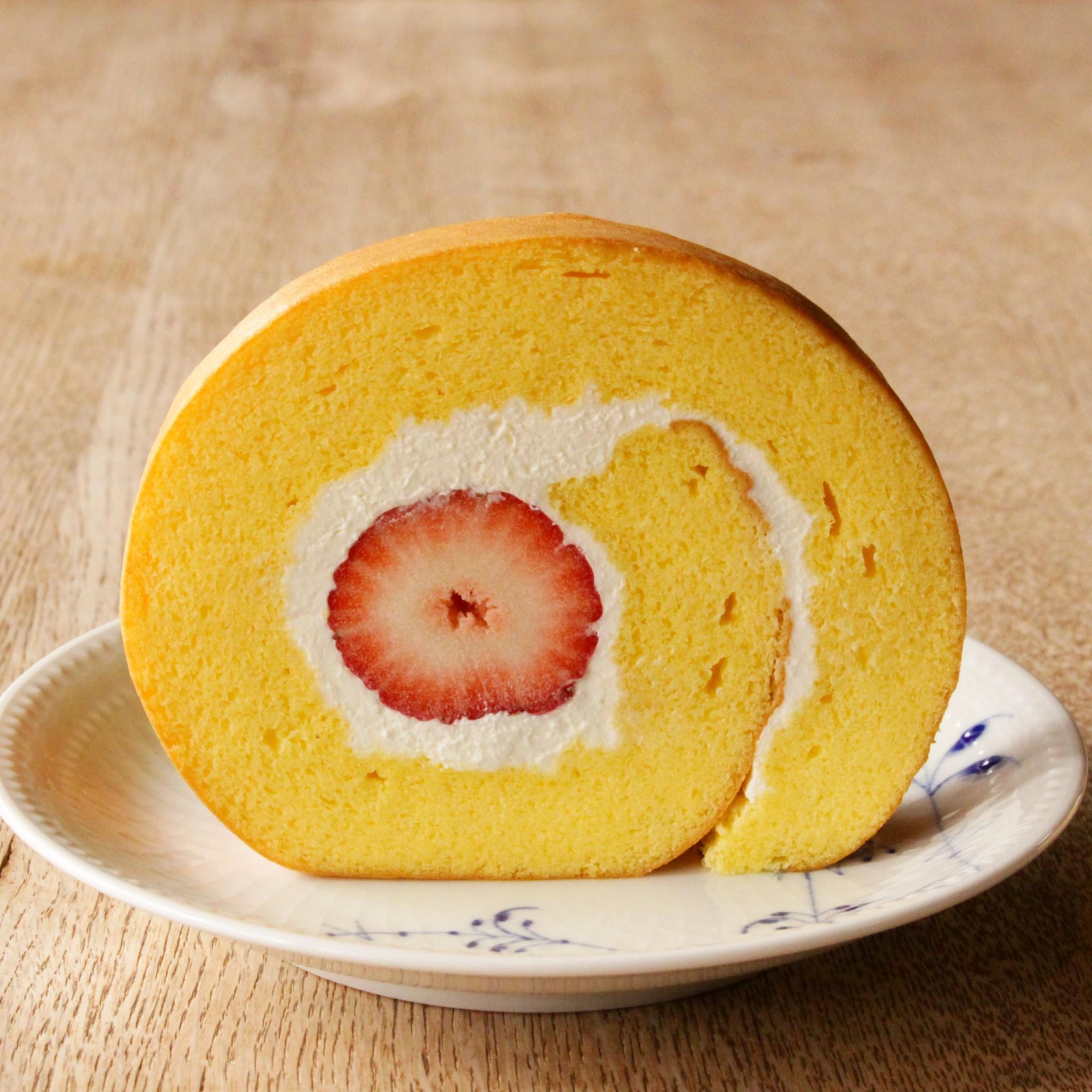 苺のロールケーキ☆