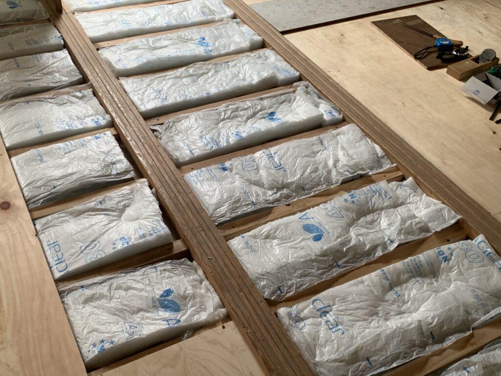 畳からフローリング、断熱材